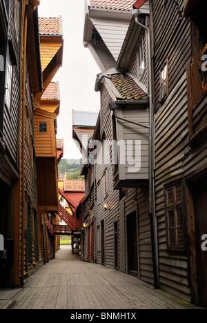 Warehouses, Bryggen, Bergen. - Stock Image