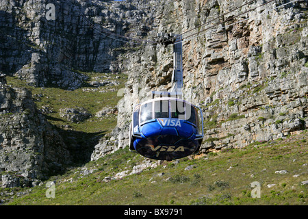 Table Mountain Cable Car, Cape Town, Western Cape, South Africa - Stock Image