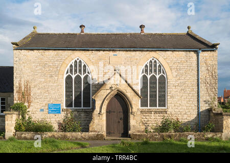 Early 19th century Wesleyan Methodist Chapel on The Green in Slingsby, North Yorkshire, England, UK - Stock Image