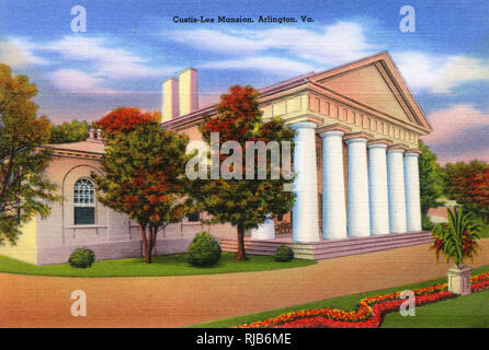 Arlington, Virginia, USA - Custis-Lee Mansion - Stock Image