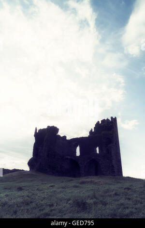 the ruins of an old castle - Stock Image