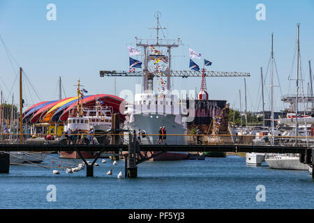 The Maritime Museum in La Rochelle on the coast of the Poitou-Charentes region of France. - Stock Image