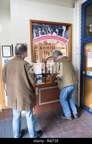 Admission ticket office entrance to Radstock museum, Somerset, England, UK - Stock Image