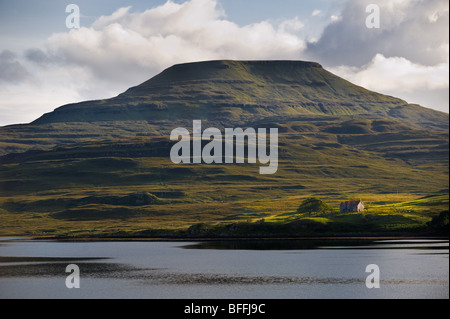 photograph of Mcleods Table Healabhal Bheag on Loch Dunvegan - Stock Image