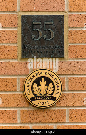 Leed Gold Certified Building - City Creek - Salt Lake City, Utah - Stock Image