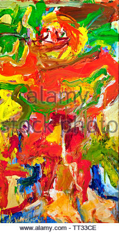 Red Man with Moustache by  Willem de Kooning born 1904 Dutch American abstract expressionist artist. - Stock Image