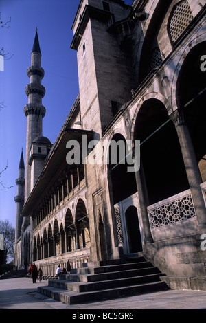 Wide angle exterior view of Suleymaniye Camii - Stock Image