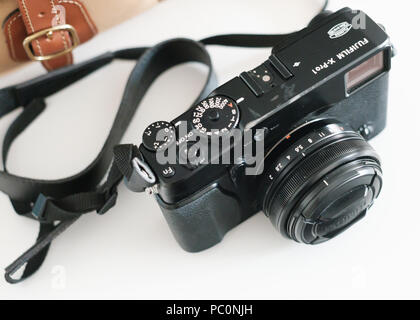 Retro style Fuji / Fujifilm mirrorless camera, X-Pro 1 - Stock Image