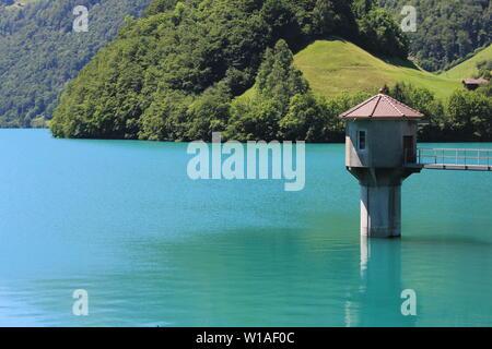 Summer day at Lake Lungeren, Switzerland. - Stock Image
