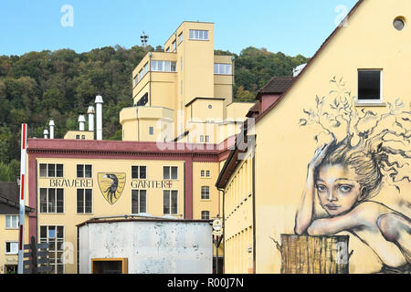 Ganter Brewery Freiburg im Breisgau, Germany, Europe - Stock Image