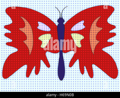 insectThe butterfly image expressed here as symbol of transformation and the spirits through many forms. - Stock Image