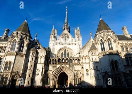 Royal Courts of Justice, London, United Kingdom. - Stock Image