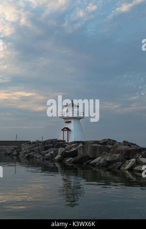 lighthouse in the evening - Stock Image