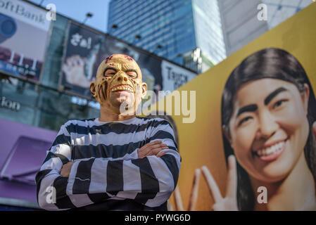 Tokyo, Japan. 31st Oct, 2018. Halloween celebration in Shibuya district, Tokyo, Japan, on October 31, 2018 ( Credit: Oleksandr Rupeta/Alamy Live News - Stock Image