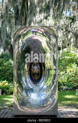 Untitled, 1997, Anish Kapoor sculpture, New Orleans Sculpture Garden New Orleans, Louisiana, USA - Stock Image