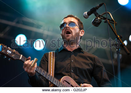 Electric Octopus Orchestra performing live - Stock Image