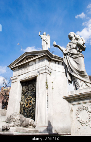 A very distinctive tomb in the cemetary at Recoleta - Stock Image