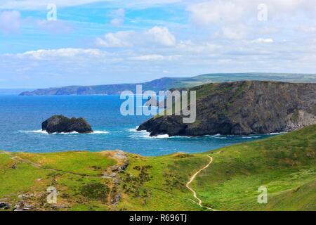 Cornish Coastline,Tintagel,Cornwall,England,UK - Stock Image
