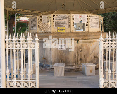The fountain for washing before entering the Selimiye Camii a mosque in the Northern Turkish part of Nicosia Cyprus - Stock Image