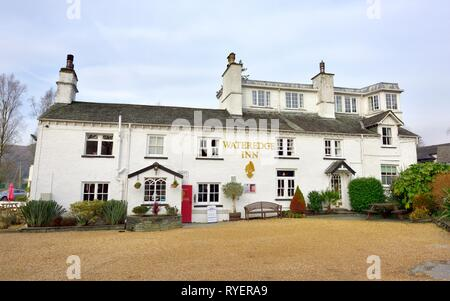 Wateredge Inn,Borrans Rd, Ambleside,Lake District,Cumbria,England,UK - Stock Image