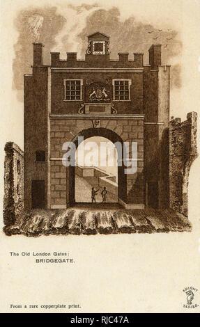 The Old London Gates - Bridgegate. - Stock Image