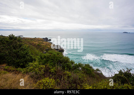 Rugged Oregon coastline along the Southern coast of this great state. - Stock Image