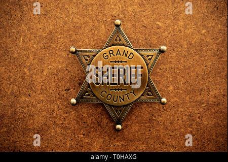 sheriff badge - Stock Image