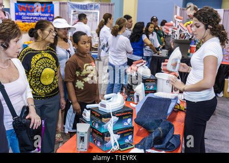 Miami Beach Miami Florida Beach Convention Center Spring Home Design and Remodeling Show exhibitor shopping Black woman women bo - Stock Image