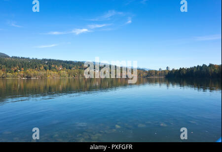 Burrard Inlet in Port Moody, BC, Canada.  As seen from Rocky Point Park. - Stock Image