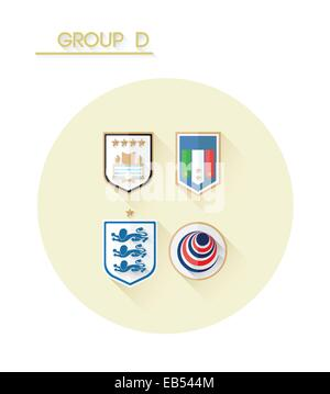 Group d with country crests - Stock Image