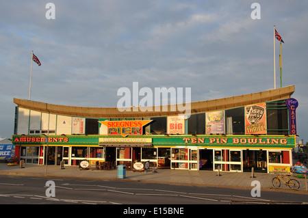 Skegness Pier, Skegness, Lincolnshire, England, UK - Stock Image