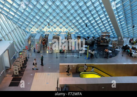 Seattle Central Library, Seattle, Washington state, USA - Stock Image
