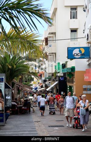 Canary Islands, Tenerife, Costa Adeje, Los Cristianos Village - Stock Image