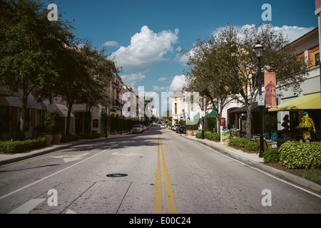 S Rosemary Ave in City Place, West Palm Beach, Florida. - Stock Image