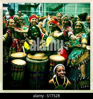 Ethnic dance festival performers - Stock Image