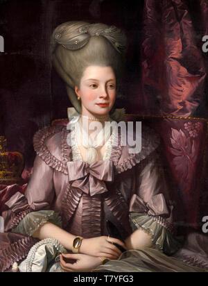 Benjamin West, Queen Charlotte, portrait painting, 1777 - Stock Image
