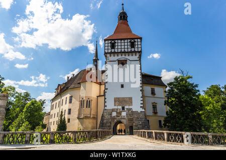Renaissance castle in Blatna town, Czech Republic - Stock Image
