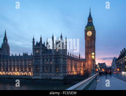 Elizabeth Tower and the Houses of Parliament - Stock Image