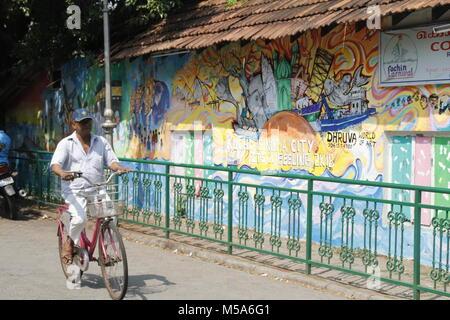 Street art in Fort Kochi, Kerala - Stock Image