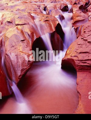 Fluted carving Coyote Wash cutting through Navajo Sandstone Coyote Gulch Escalante River tributary Glen Canyon National - Stock Image