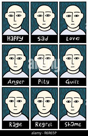 Feelings - Stock Image