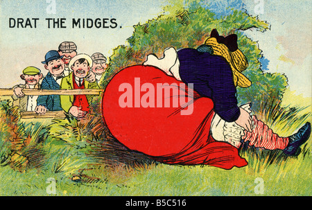 1909 1900s Edwardian Comic Art Picture Postcard EDITORIAL USE ONLY - Stock Image