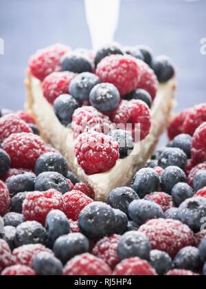 Berries and cheesecake - Stock Image