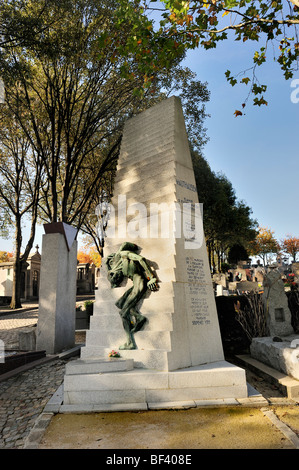 Paris, France - Pere Lachaise Cemetery, Monument to Jews Deported From Drancy in WWII '120 Steps', Holocaust - Stock Image