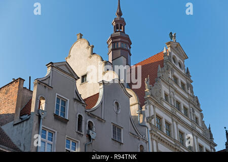Chlebnicka Street Traditional houses Gdańsk Poland - Stock Image