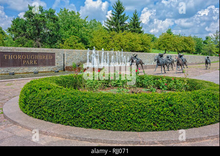 Thoroughbred Park in downtown Lexington Kentucky - Stock Image