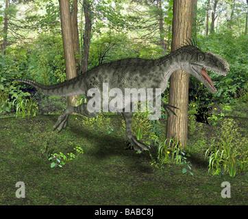 dinosaur Monolophosaurus - Stock Image