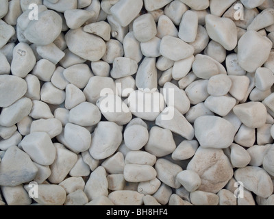 Stones in water feature,  Mallorca Balearic Islands Spain - Stock Image
