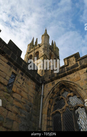 Cathedral of the Peak- St John the Baptist at Tideswell Derbyshire England UK - Stock Image