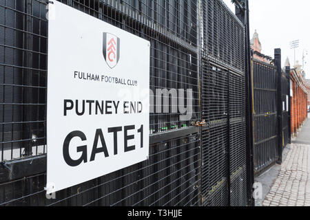 Craven Cottage the home of Fulham Football Club, Fulham, West London, UK - Stock Image